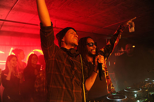 DJ Vice and Lil Jon at TAO at Village at the Lift with Moet Chandon and Stella Artois