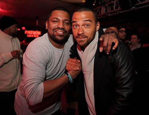Mekhi Phiffer and Jesse Williams at Marquee  Stella Artois present TAO nightclub Sundance